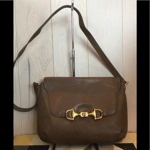 Vintage Gucci Horsebit Leather Shoulder Bag